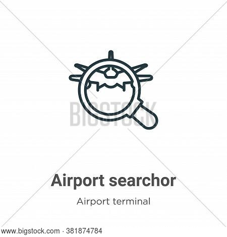 Airport searchor icon isolated on white background from airport terminal collection. Airport searcho
