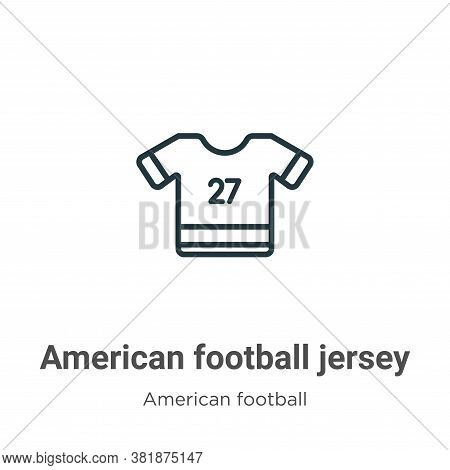 American football jersey icon isolated on white background from american football collection. Americ