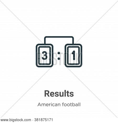 Results icon isolated on white background from american football collection. Results icon trendy and