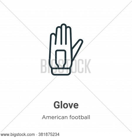 Glove icon isolated on white background from american football collection. Glove icon trendy and mod
