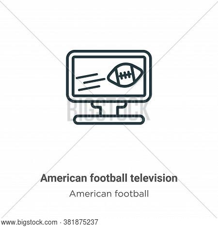 American football television icon isolated on white background from american football collection. Am