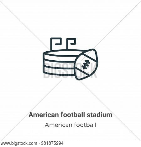 American football stadium icon isolated on white background from american football collection. Ameri