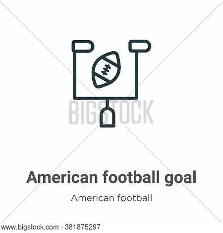 American football goal icon isolated on white background from american football collection. American