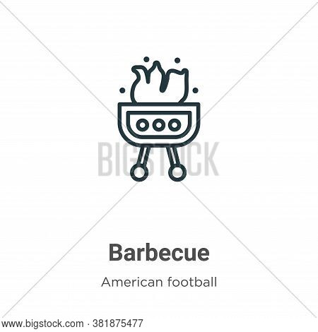 Barbecue icon isolated on white background from american football collection. Barbecue icon trendy a