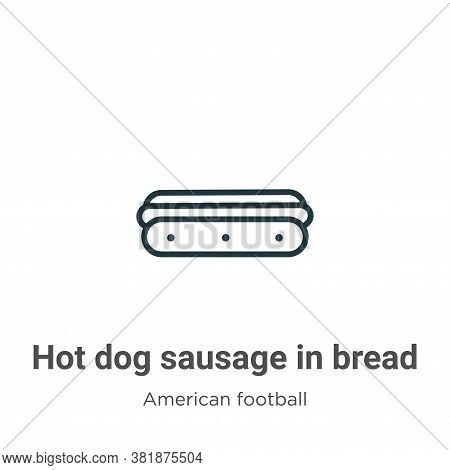 Hot dog sausage in bread icon isolated on white background from american football collection. Hot do