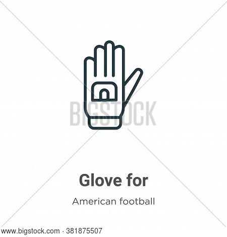 Glove for icon isolated on white background from american football collection. Glove for icon trendy