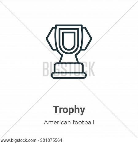 Trophy silhouette icon isolated on white background from american football collection. Trophy silhou