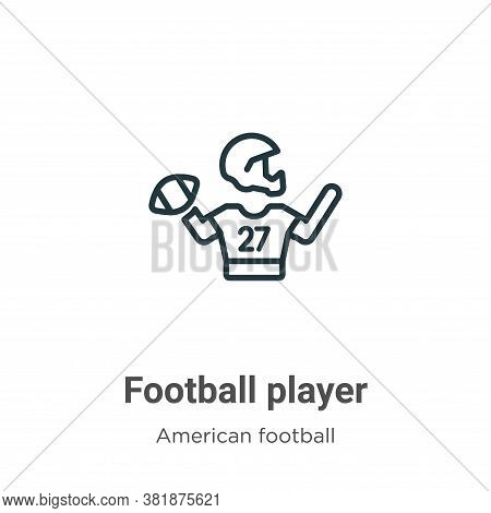Football player icon isolated on white background from american football collection. Football player