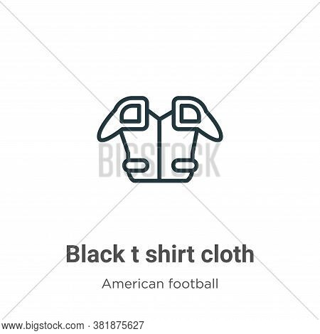 Black t shirt cloth icon isolated on white background from american football collection. Black t shi