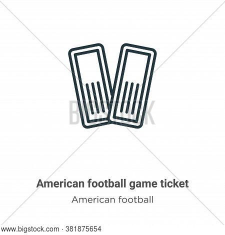 American football game ticket icon isolated on white background from american football collection. A