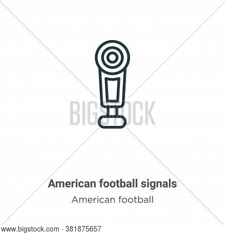 American football signals icon isolated on white background from american football collection. Ameri