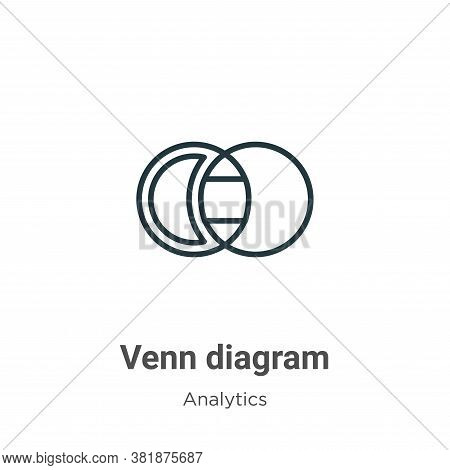 Venn diagram icon isolated on white background from analytics collection. Venn diagram icon trendy a