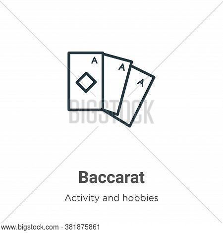 Baccarat icon isolated on white background from activity and hobbies collection. Baccarat icon trend