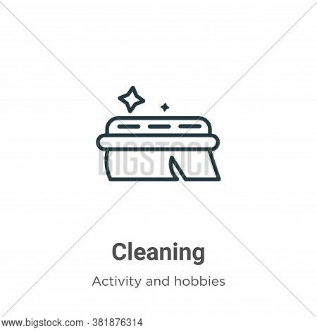 Cleaning icon isolated on white background from activities collection. Cleaning icon trendy and mode
