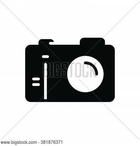 Black Solid Icon For Camera Aperture Digital Photo Photography Picture Snapshot Flash Studio Capture