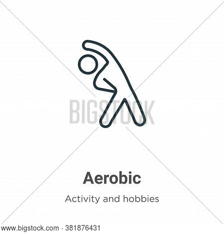 Aerobic Icon From Activities Collection Isolated On White Background.