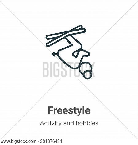 Freestyle icon isolated on white background from activities collection. Freestyle icon trendy and mo