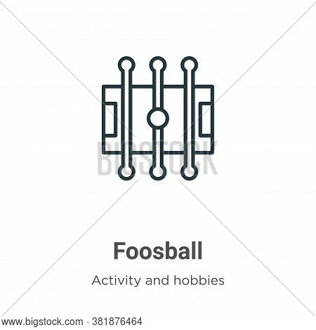 Foosball icon isolated on white background from outdoor activities collection. Foosball icon trendy
