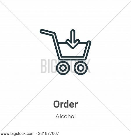 Order icon isolated on white background from alcohol collection. Order icon trendy and modern Order