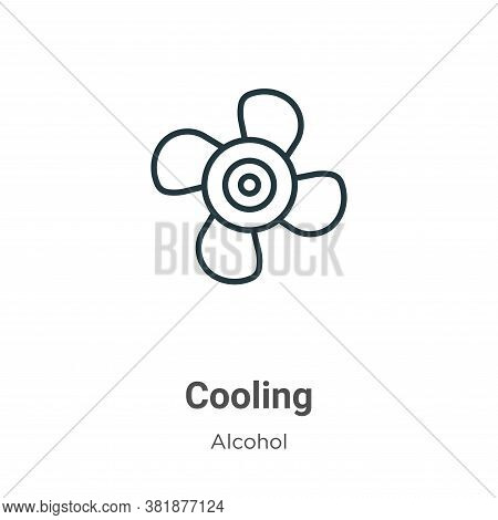 Cooling icon isolated on white background from alcohol collection. Cooling icon trendy and modern Co