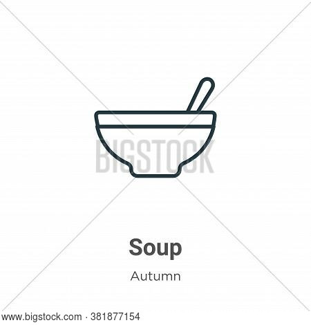 Soup icon isolated on white background from autumn collection. Soup icon trendy and modern Soup symb