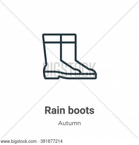 Rain boots icon isolated on white background from autumn collection. Rain boots icon trendy and mode