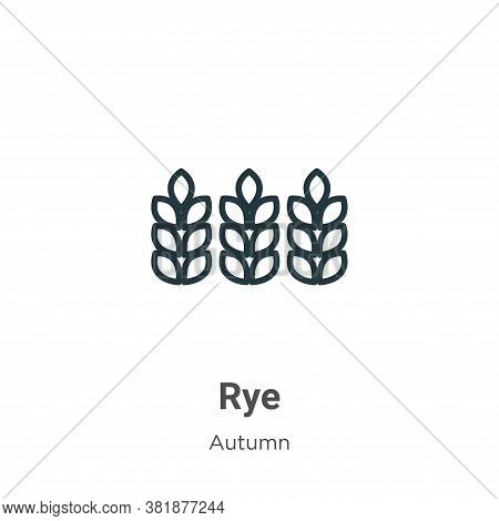 Rye icon isolated on white background from autumn collection. Rye icon trendy and modern Rye symbol