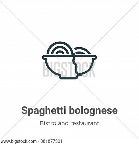 Spaghetti bolognese icon isolated on white background from bistro and restaurant collection. Spaghet
