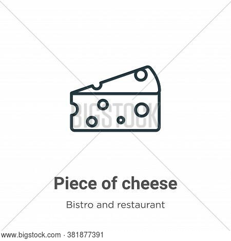 Piece of cheese icon isolated on white background from bistro and restaurant collection. Piece of ch