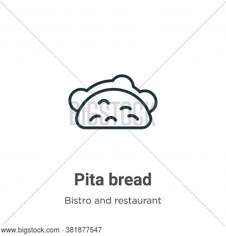 Pita bread icon isolated on white background from bistro and restaurant collection. Pita bread icon