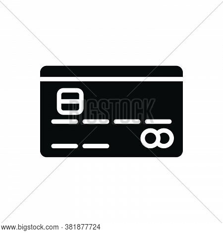 Black Solid Icon For Credit-card Credit Card Debit Payment Cash Withdrawal Deposit Commercial Cashle