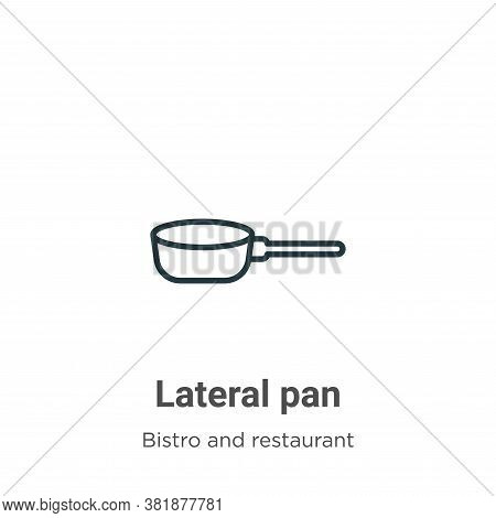 Lateral pan icon isolated on white background from bistro and restaurant collection. Lateral pan ico
