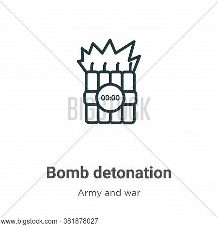 Bomb Detonation Icon From Army And War Collection Isolated On White Background.