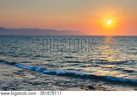 Beautiful Sunset In Puerto Vallarta. Golden Hour.
