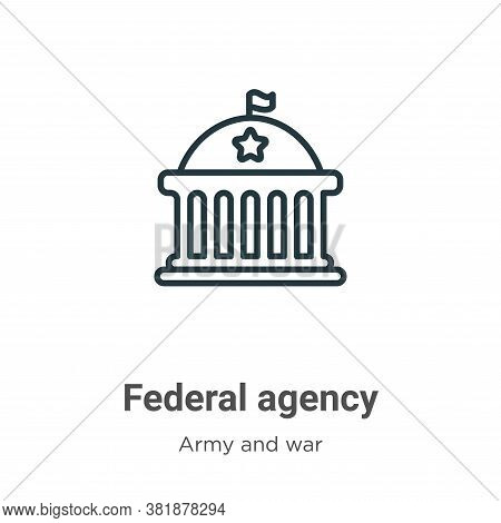 Federal agency icon isolated on white background from army and war collection. Federal agency icon t