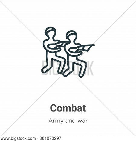 Combat icon isolated on white background from army and war collection. Combat icon trendy and modern