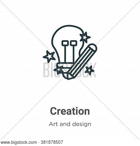 Creation icon isolated on white background from art and design collection. Creation icon trendy and