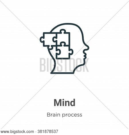 Mind Icon From Brain Process Collection Isolated On White Background.