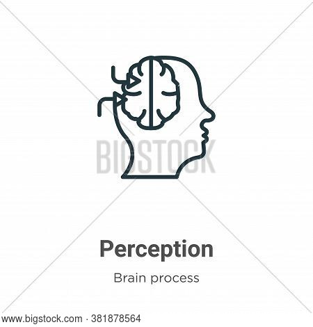Perception icon isolated on white background from brain process collection. Perception icon trendy a