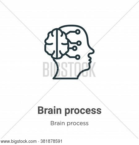 Brain process icon isolated on white background from brain process collection. Brain process icon tr