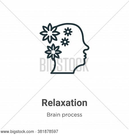 Relaxation icon isolated on white background from brain process collection. Relaxation icon trendy a