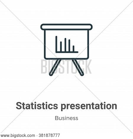 Statistics presentation icon isolated on white background from business collection. Statistics prese