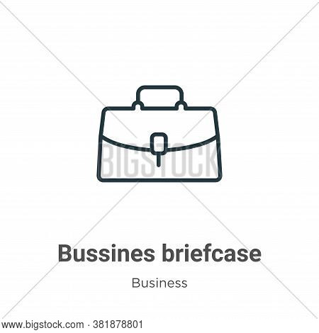 Bussines briefcase icon isolated on white background from business collection. Bussines briefcase ic