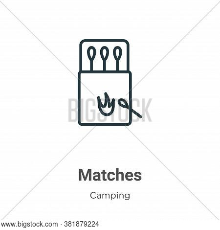 Matches icon isolated on white background from camping collection. Matches icon trendy and modern Ma