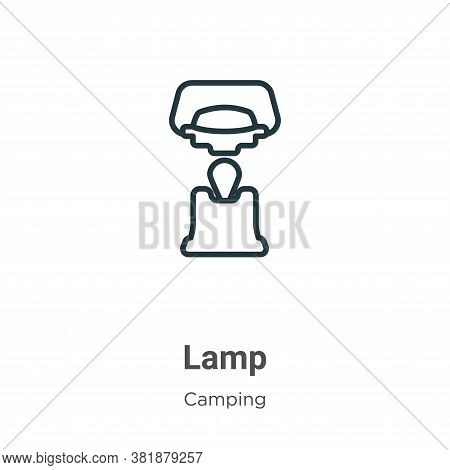 Lamp icon isolated on white background from camping collection. Lamp icon trendy and modern Lamp sym