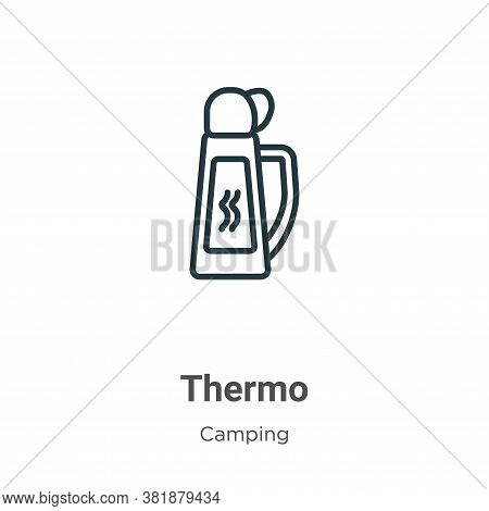 Thermo icon isolated on white background from camping collection. Thermo icon trendy and modern Ther