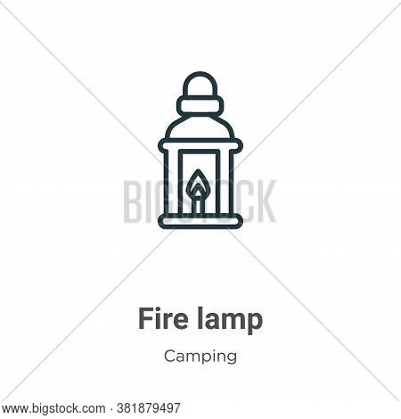 Fire lamp icon isolated on white background from camping collection. Fire lamp icon trendy and moder