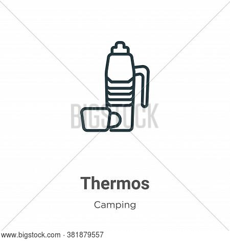 Thermos icon isolated on white background from camping collection. Thermos icon trendy and modern Th