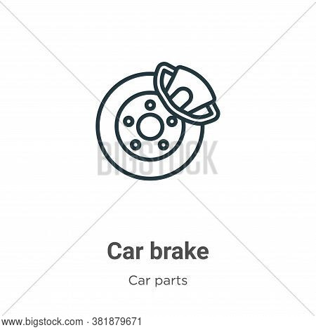 Car brake icon isolated on white background from car parts collection. Car brake icon trendy and mod