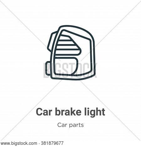 Car brake light icon isolated on white background from car parts collection. Car brake light icon tr